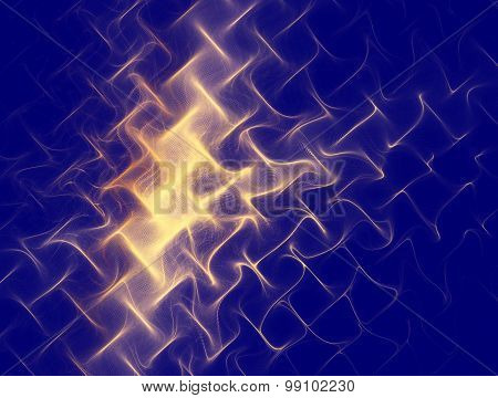 Abstract Image Of A Gold Texture, Metal Mesh, Waves