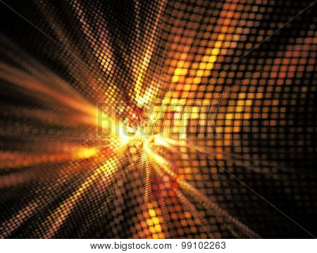 Abstract Textured Image Of Golden Glow , A Breakthrough
