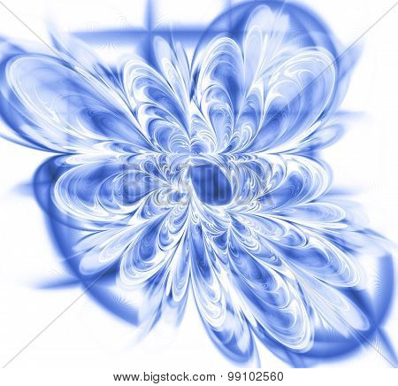 Abstract Fractal. Illustration Of Flowers And Lattice