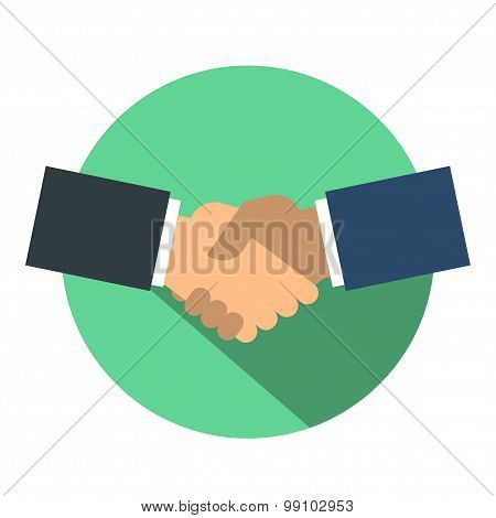 Shake hand flat icon