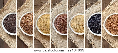 Collage Of Different Cereals