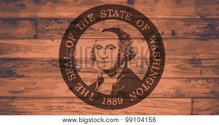 Washington State Flag And Seal Brand
