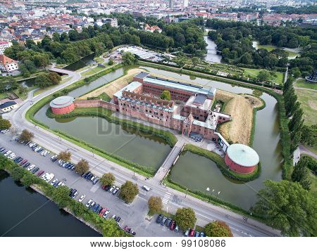 Aerial View Of Malmoe Castle, Sweden