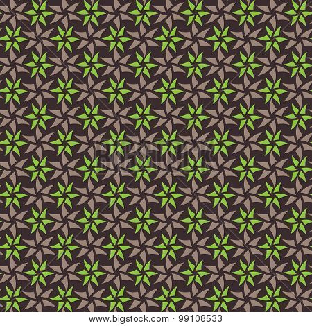 Green And Brown Seamless Pattern