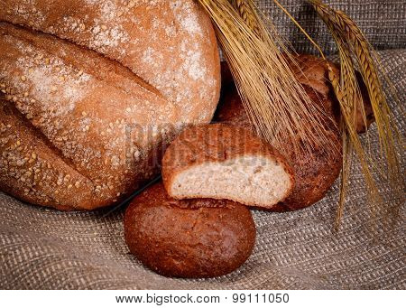 Fresh Bread With Ears A Rye