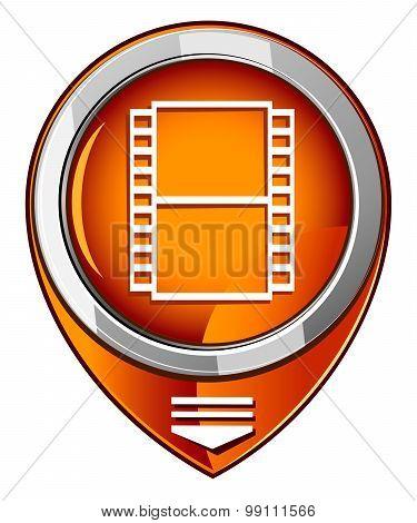Film Orange Pointer. Film Camera