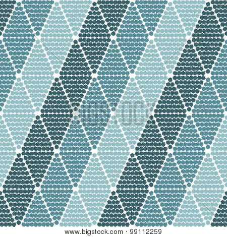 Seamless Pattern With Rhombuses Tribal