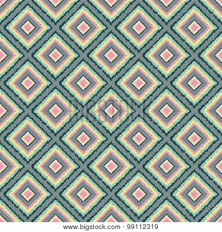 Seamless pattern with  squares Tribal