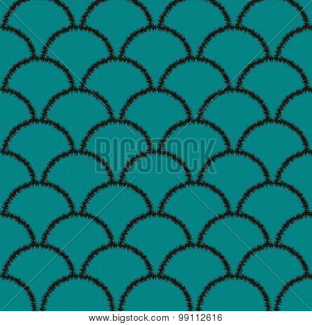 Seamless Oriental Waves Pattern
