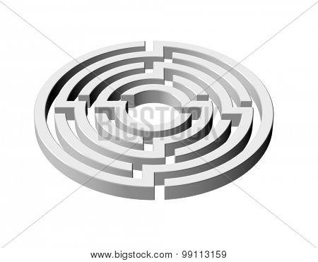An illustration of 3d maze