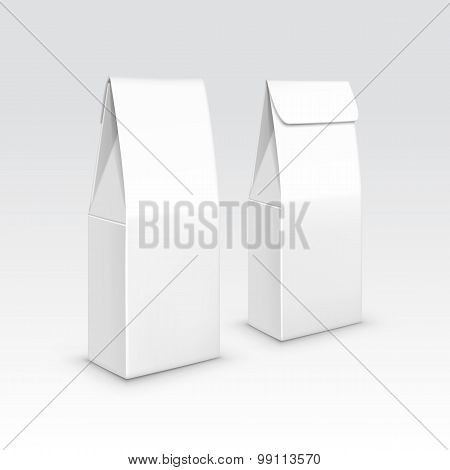 Tea coffee paper packaging package pack bag isolated vector