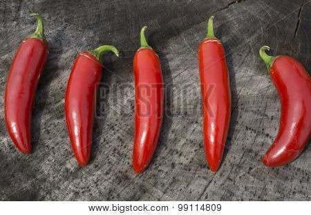 Hot and Spicy Red Serrano Peppers