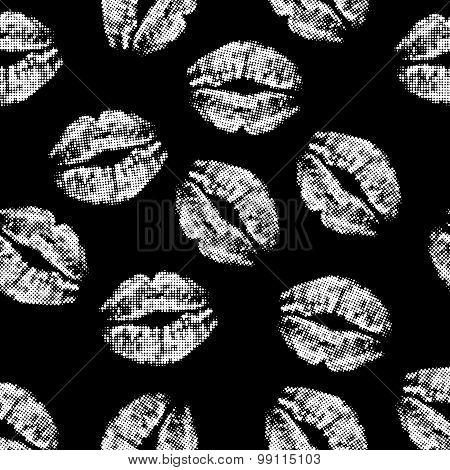 halftone lips