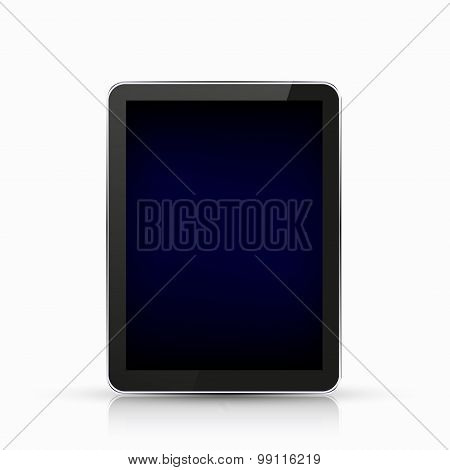 Vector modern realistic computer tablet