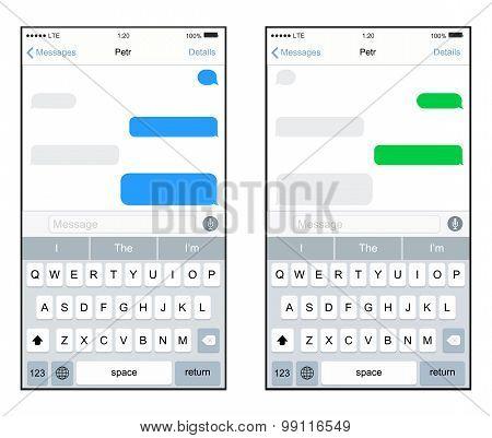 Vector modern screens smartphones