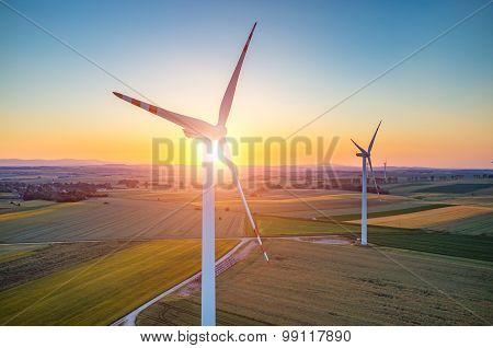 Sunset Above The Windmills