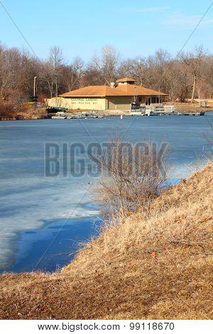 Kickapoo Landing on Clear Pond