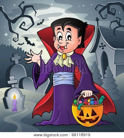 Halloween vampire theme image 6 - eps10 vector illustration.