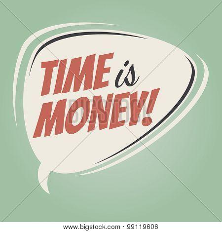 time is money retro speech balloon
