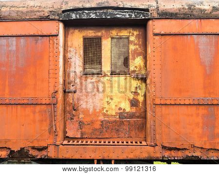 Door on Old Train Car