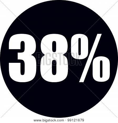 38 Percent Icon