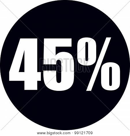 45 Percent Icon