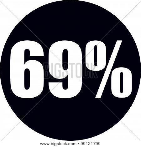 69 Percent Icon