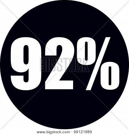92 Percent Icon
