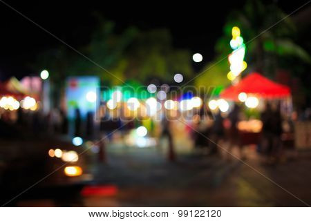City Night Light Blur Bokeh