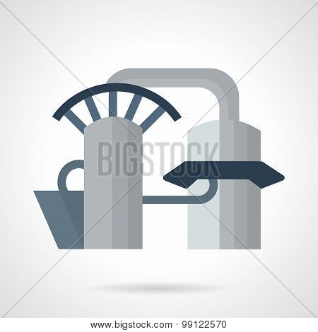Hydropower plant vector icon