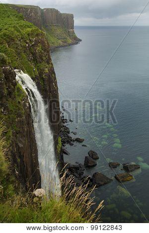 Kilt Rock falls on isle of Skye, Scotland