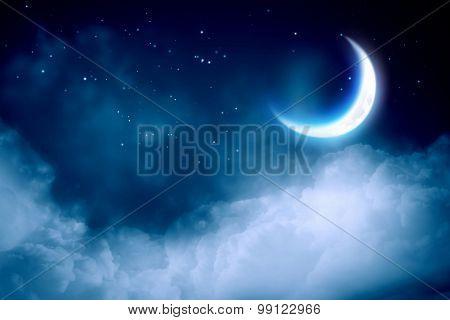 Man hang on moon