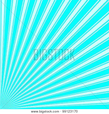 Aqua Color Stripe Funky Sun Rays Backgound
