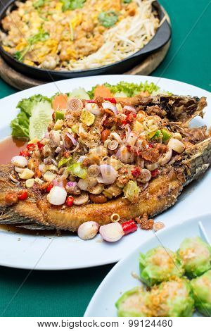 Deep Fried Fish With Thai Herb
