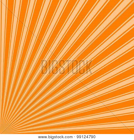 Orange Color Stripe Funky Sun Rays Backgound