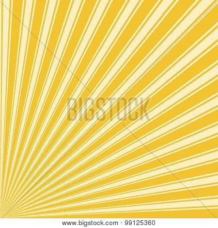 Saffron Color Stripe Funky Sun Rays Backgound