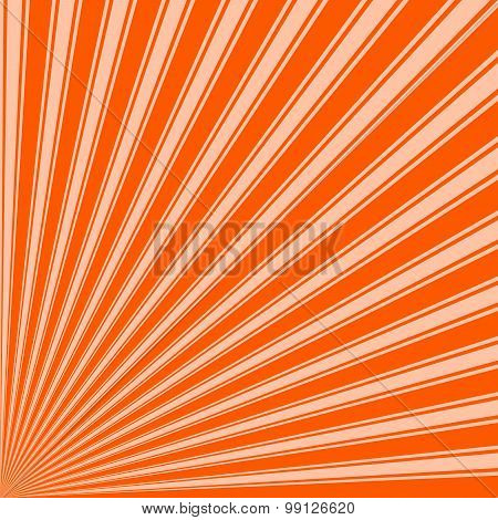 Willpower orange Color Stripe Funky Sun Rays Backgound