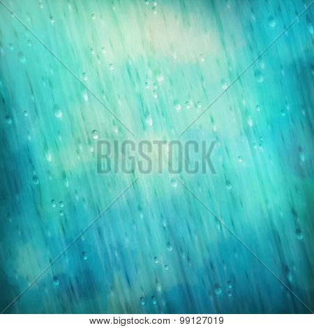 Colorful Blue Rain Background