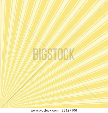Yellow (Crayola) Color Stripe Funky Sun Rays Backgound