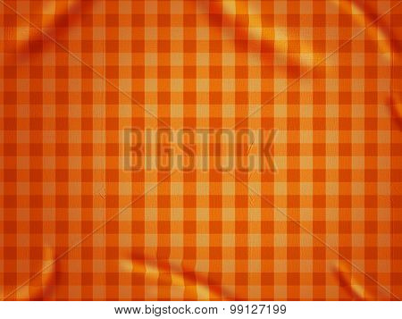 Orange checked tablecloth background