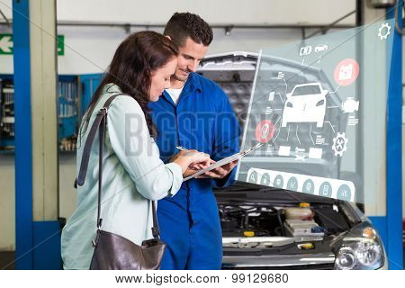Engineering interface against customer listening to his mechanic