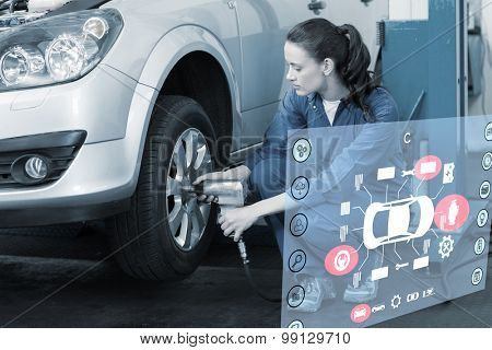 Engineering interface against mechanic adjusting the tire wheel