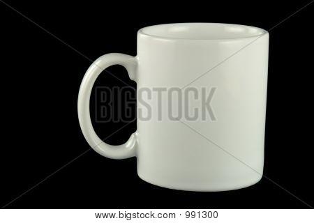 White Coffee Mug Alpha