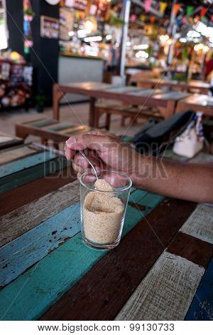 Teaspoon Of Sugar And Hand Man