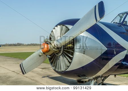 Small Sport Airplane Close