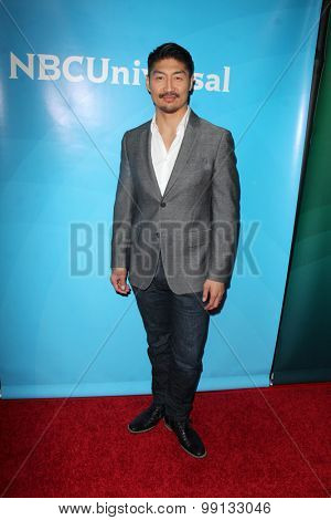 LOS ANGELES - AUG 13:  Brian Tee at the NBCUniversal 2015 TCA Summer Press Tour at the Beverly Hilton Hotel on August 13, 2015 in Beverly Hills, CA
