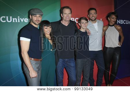 LOS ANGELES - AUG 13:  Heroes Reborn cast at the NBCUniversal 2015 TCA Summer Press Tour at the Beverly Hilton Hotel on August 13, 2015 in Beverly Hills, CA