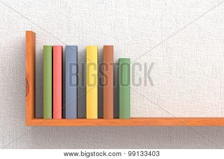 Colored Books On Wooden Bookshelf