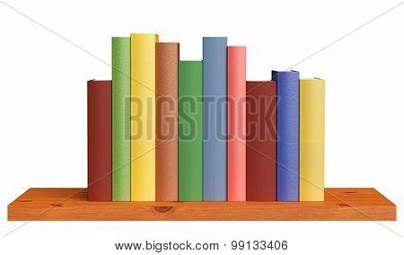Wooden Bookshelf With Books