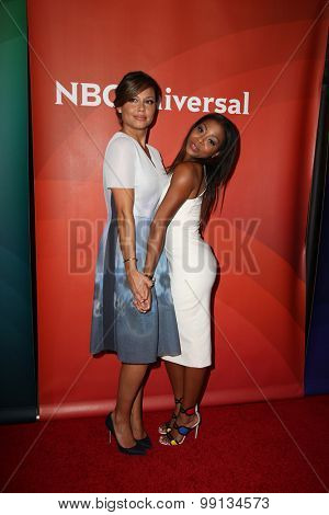 LOS ANGELES - AUG 13:  Vanessa Lachey, Bresha Webb at the NBCUniversal 2015 TCA Summer Press Tour at the Beverly Hilton Hotel on August 13, 2015 in Beverly Hills, CA